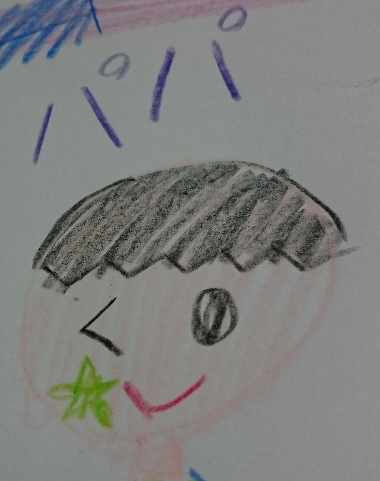 娘が描いたコシタツ