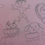 子供の描いたキャラクター。表現するって素晴らしい。自由な感性って素晴らしい