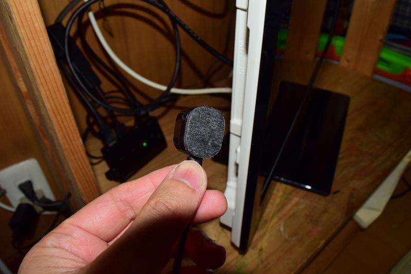HDMI切り替えスイッチ リモコン受光部 取り付け