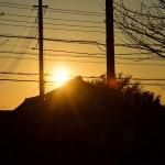 冬至前後のカメラ撮影は太陽が低くて、逆光が大変ですよの巻き