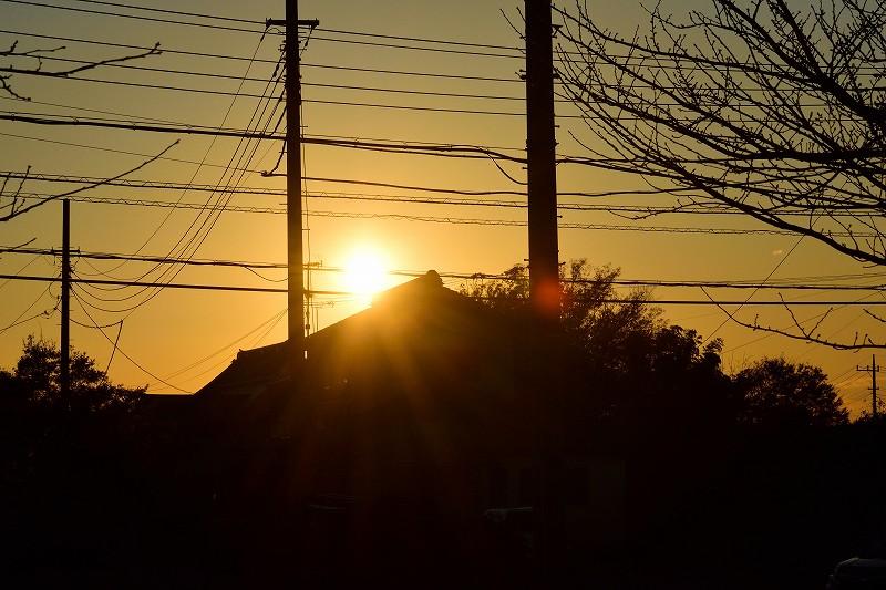 夕陽の撮影