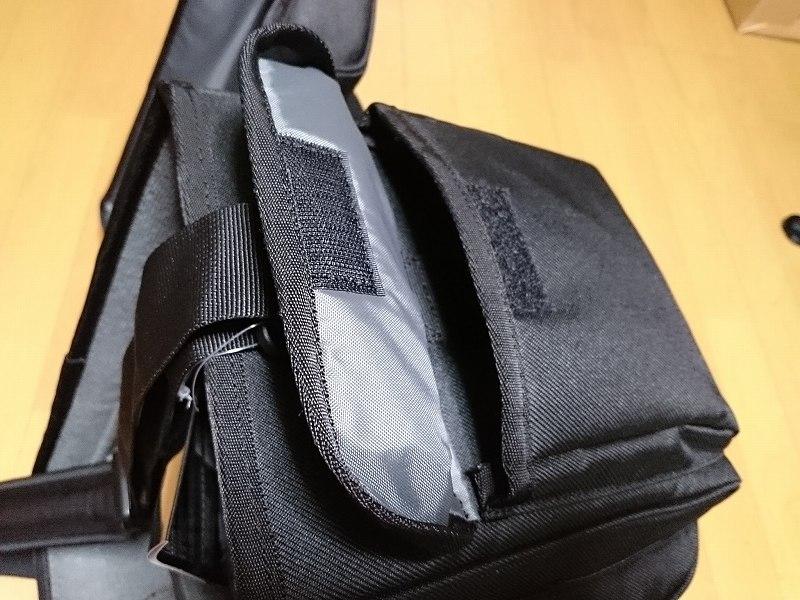 HAKUBA カメラバッグ ルフトデザイン リッジ ショルダーバッグ L 15.6L ブラック SLD-LG-SBLBK サイドポケット
