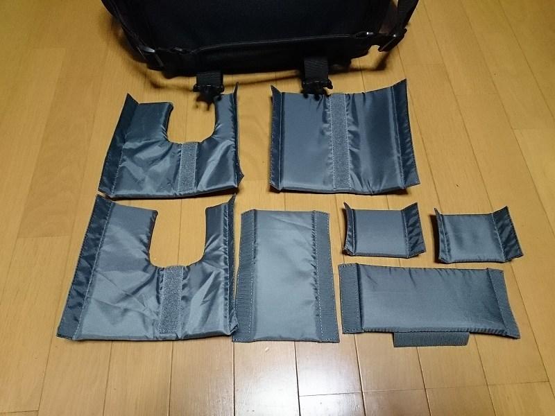 HAKUBA カメラバッグ ルフトデザイン リッジ ショルダーバッグ L 15.6L ブラック SLD-LG-SBLBK 仕切り板