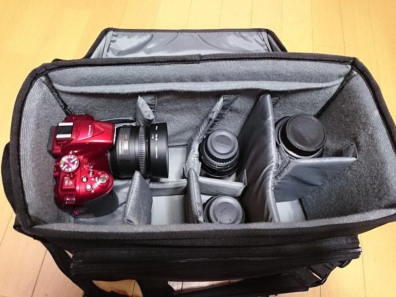HAKUBA カメラバッグ ルフトデザイン リッジ ショルダーバッグ L 15.6L ブラック SLD-LG-SBLBK レンズ収納