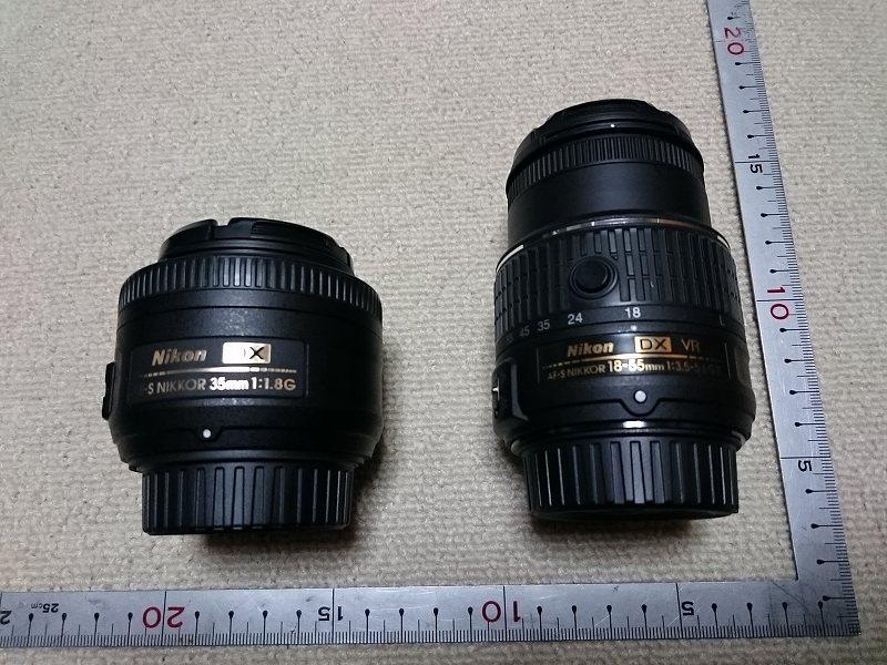 ニコン AF-S DX NIKKOR 35mm f/1.8G AF-S DX NIKKOR 18-55mm f/3.5-5.6G VR II 比較