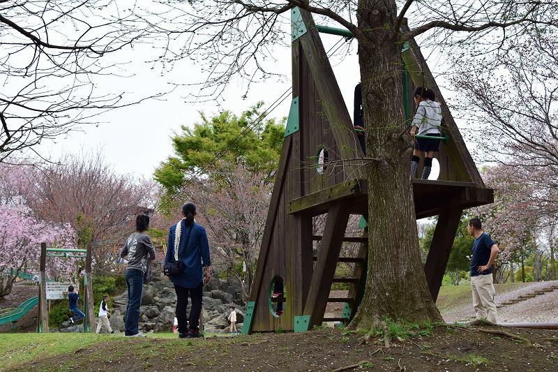 根ヶ谷戸公園 遊具 ターザンロープ