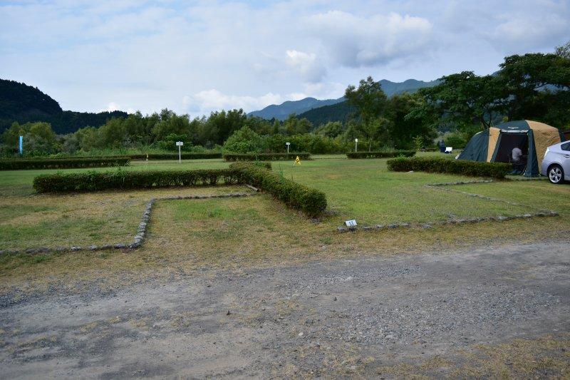 くのわき親水公園キャンプ場 区画サイト