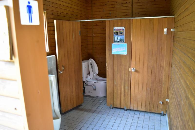 くのわき親水公園キャンプ場 トイレ