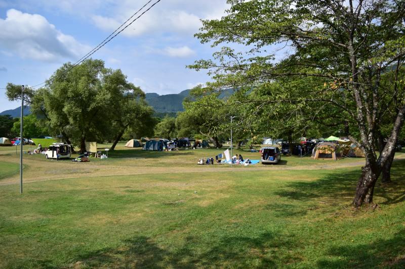くのわき親水公園キャンプ場 フリーサイト