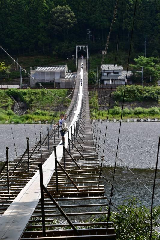 くのわき親水公園キャンプ場 つり橋