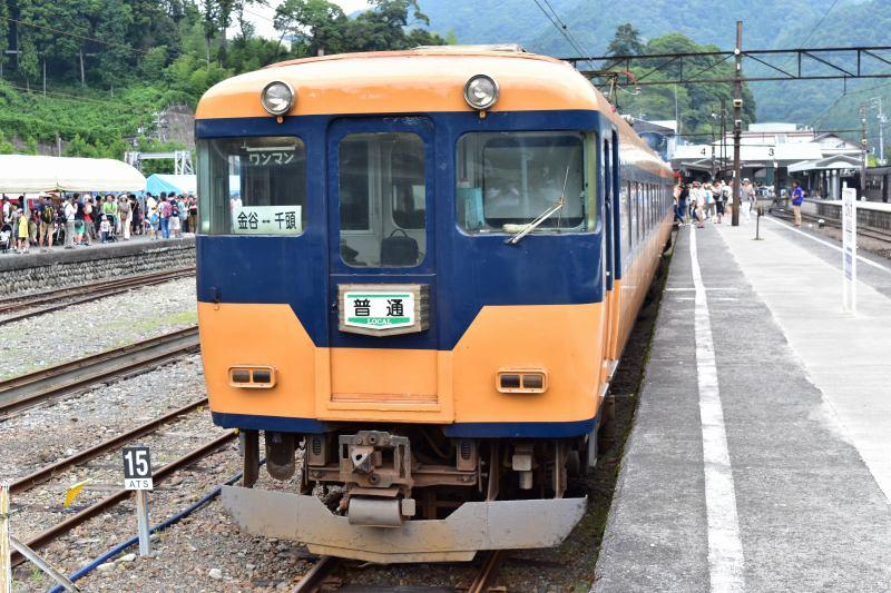 大井川鉄道 大井川線 オレンジ色の電車