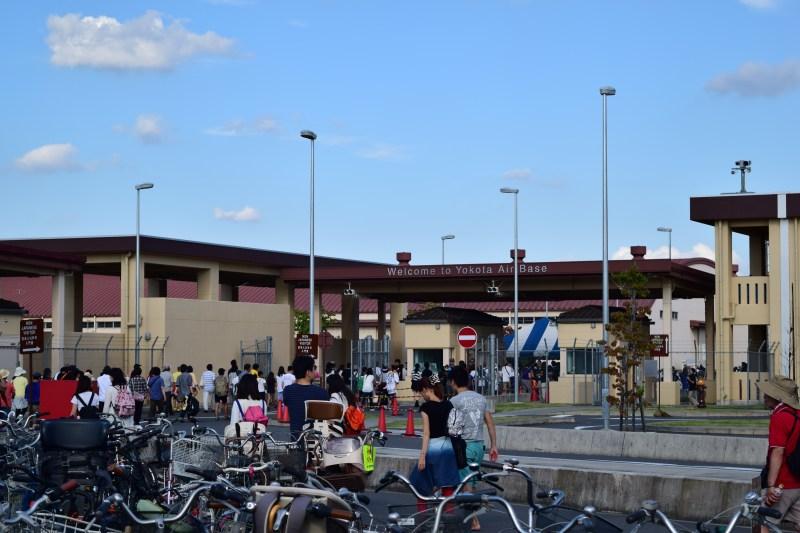 横田基地日米友好祭 駐輪場