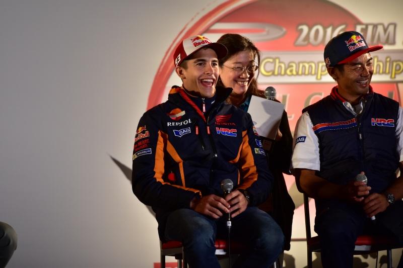 2016 MotoGP ツインリンクもてぎ モトステージでのマルケス選手