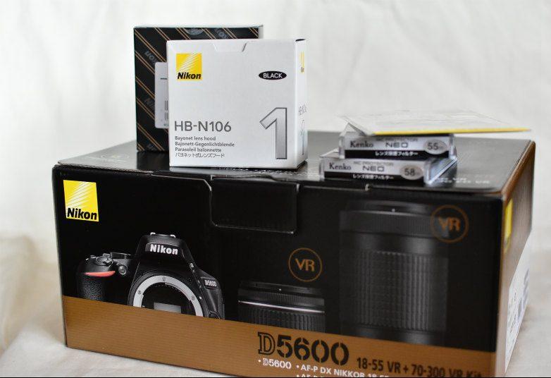 D5600 レンズ保護フィルター、フード、液晶保護フィルム