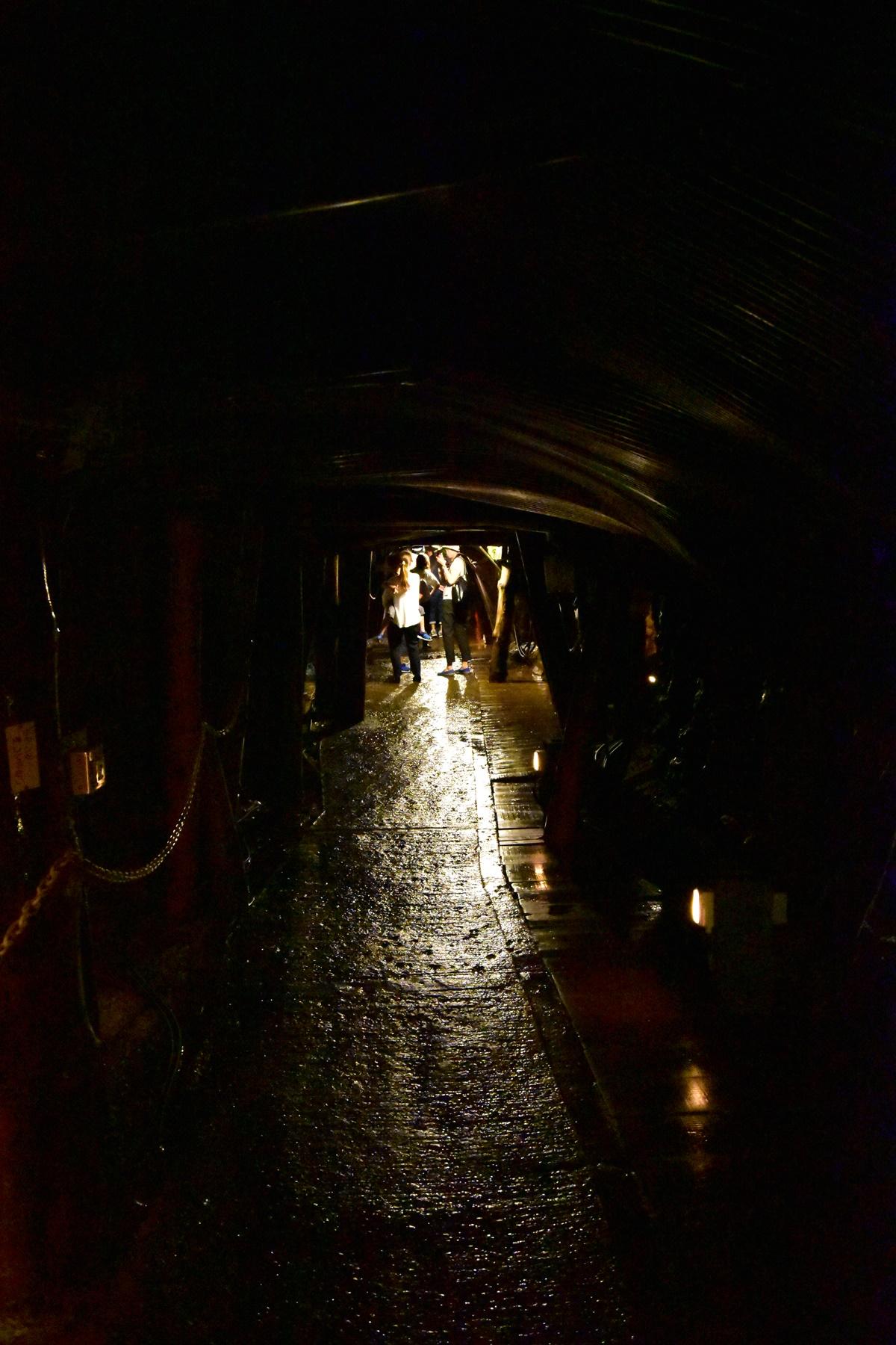 足尾銅山観光 銅山坑道を見学 坑道内