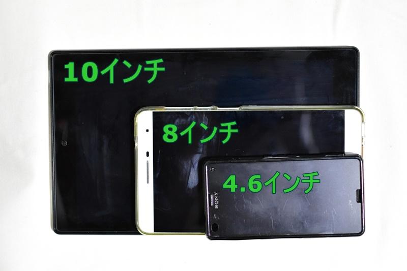 Fire HD 10 画面サイズ比較