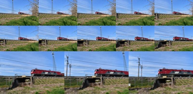D5600 連写撮影 電車